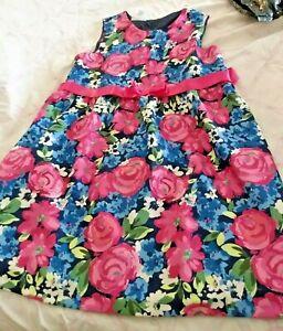 Bonnie Jean Girl Plus Size Style B84920-CL Pink Floral Dress Size 20 1/2 NWT