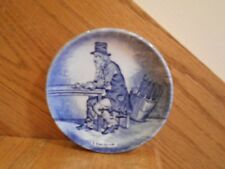 Delft Mini Plate Boch Belgium blue Eau-de-vie top hat man *shipping included!*