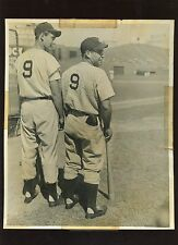 Vintage Ted Williams Boston Red Sox & Charley Keller #3 Wire Photo
