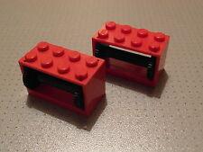 Lego Ciudad - 2 Rojo Cadena Reel cabrestante 2 X 4 X 2-Buen Estado (4209 4210)