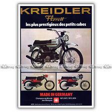 PUB KREIDLER FLORETT 50 CROSS, RM & RS Moped Ad / Publicité Cyclo-Sport de 1975