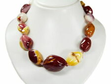 Gorgeous Necklace in Mookaite Large Nuggets New Product