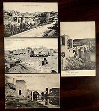 Puente De San Martin & Los Cigarrales Toledo Spain 4 Postcards c.1908-1920