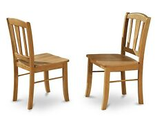Set of 4 East West Furniture Dublin dinette kitchen dining chairs oak DLC-OAK-W