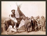 1889 photo, Native Americans, Indians, Teton, 20x16 antique, Horse, tipi, Dakota