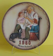 Vintage Norman Rockwell Plate ToyMaker Bas Relief 1980