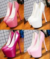 Women's Sexy Nightclub Stiletto High Heels Pumps Patent Leather Platform Shoes