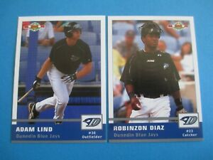 ADAM LIND + ROBINZON DIAZ - 2005 Dunedin Blue Jays set