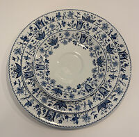 Johnson Brothers Windsor Ware Ashford Blue Dinner & Salad Plate With Saucer