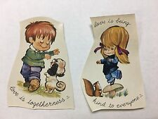 Ceramic decals colorful two designs childhood lot of 20
