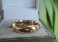 Vintage 9ct Yellow Gold Wedding Band Ring h/m 1955 Birmingham H. Samuel - size O