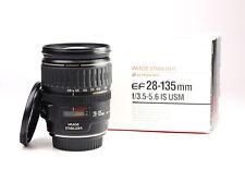 Canon EF 28-135mm Image Stabilizer F3.5-5.6 IS USM Lens + Front & Rear Lens Caps