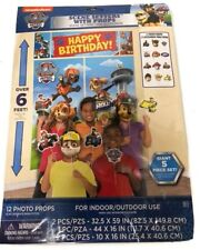 Paw Patrol WALL BANNER DECORATING KIT 17pc) ~ Birthday Party Supplies