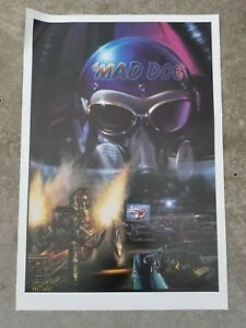 """Kenny Youngblood MAD DOG Signed / Autographed Racing Poster, Drive In 36"""" x 24.5"""