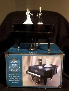 Swing Time Dancers Animated Piano Music Box By Blue Ridge Designs - Original Box