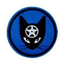 Witchy Black Cat Pentagram Patch Iron on Applique Alternative Gothic Punk Grunge