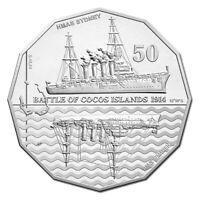 Australia 2014 HMAS Sydney/SMS Emden Engagement 50c Cents UNC Coin RAM Carded