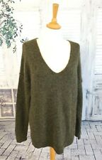 SECOND FEMALE Green brown Kid Mohair blend jumper size M
