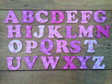 8 cm WOODEN PAINTED ALPHABET LETTERS  girls / pinks Individually hand painted.