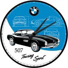 BMW 507 - TOURING SPORT Wanduhr Uhr Metallgehäuse  51081 31 cm Durchmesser