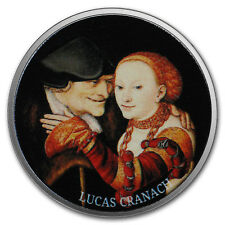 2017 Cameroon Silver European Painting (The Ill-Matched Couple) - SKU#166504