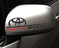 ☆New☆ A Pair Amazing Rearview Mirror Car stickers Decals For Toyota (Black)