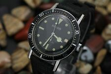 Vintage HELSA Ollech & Wajs 17 Jewel Waterproof 20ATM 38mm Diver's Watch