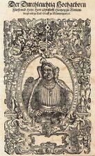 Jost Amman, Duca Cristoforo di Württemberg, Portrait, taglio di legno, 1564