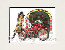 """Fire Chief Girl"" 11x14 Print by Hawaii watercolor artist Garry Palm"