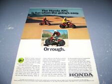 "1973 HONDA ATC 70/90 3-WHEELER (RED/YELLOW) ""IS FUN"".1-PAGE COLOR SALES AD(356W)"