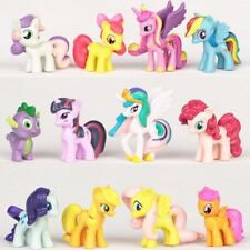 12Pcs My Little Pony Cake Toppers PVC Figures Kids Toy Dolls Collectable Gifts
