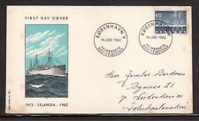"DENMARK 1962 FIRST DAY COVER, ""SELANDIA"" 1st DIESEL SHIP, 50th ANNIVERSARY !!"