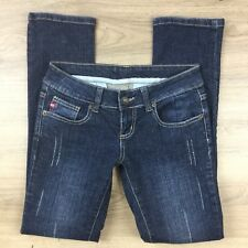Miss Sixty Straight Distressed Flap Pocket Size 28 Womens Jeans W28 L29.5 (BY16)