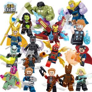 16pcs Marvel Super Heroes Fit Lego Avengers Infinity War Mini Figure Man Hulk UK