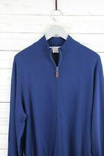 MARTIN 100% Luxury Italian Merino Sweater-Full Zip Cardigan NEW $49.99 NAVY