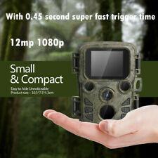 12MP Trail Camera 1080P HD Hunting Cam IR Night Vision IP66 Waterproof Outdoor