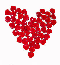 New 100 RED Acrylic Hearts Scatter Table Vase Decoration Wedding Valentine's Day