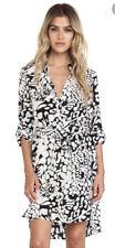$345 Diane Von Furstenberg DVF Prita Feather Leopard Black 100 Silk Wrap Dress 4