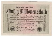 5o Millions Marks German banknote issued in 01.09.1923 RL 14 xf five digits