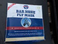 * Fly Mask *Bar None Horse Sz.*800 - 1200* lbs.Gray w/ Black Trim New