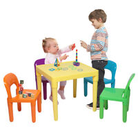 5PCS Kids Table & Chairs Set Toddler Child Toy Home Activity Play Room Furniture