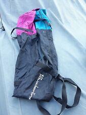 New listing Vintage Powderline Ski Bag. Pink And Turquoise Ski Bag. 80's Bag.