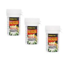 Insecto 3 x Smoke Insect Bomb - Moth Cluster Fly Wasp Mite Killer Control 3.5g