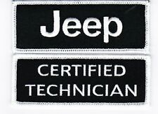 JEEP CERTIFIED TECHNICIAL SEW/IRON ON PATCH EMBROIDERED MOPAR 4X4 SRT8