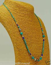 Türkis Halskette Collier Farbenfroh Grün Blau Schmuck Kette Schmuckstück a60/1