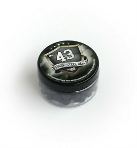 100x Premium Hard Mix Rubber Steel Balls Paintballs Reballs 43 Cal. T4E RAM M2