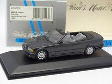 Minichamps 1/43 - BMW Serie 3 E36 Diamante Black In metallo Cabrio