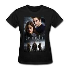 Women's The Twilight Saga Graphic Cotton Short Sleeve T-Shirts Black