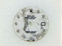 Rolex Men's Datejust II 41mm Stainless Steel Marble Stone Diamond Dials