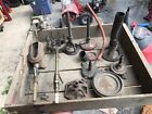 Great lot unusual rare Antique Bunsen Burners brass With Cast iron Base